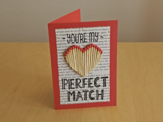 Valentines day paper crafts: You're my perfect match