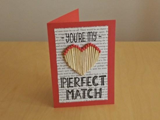 Créations en papier pour la saint valentin : Tu es mon 'match' parfait