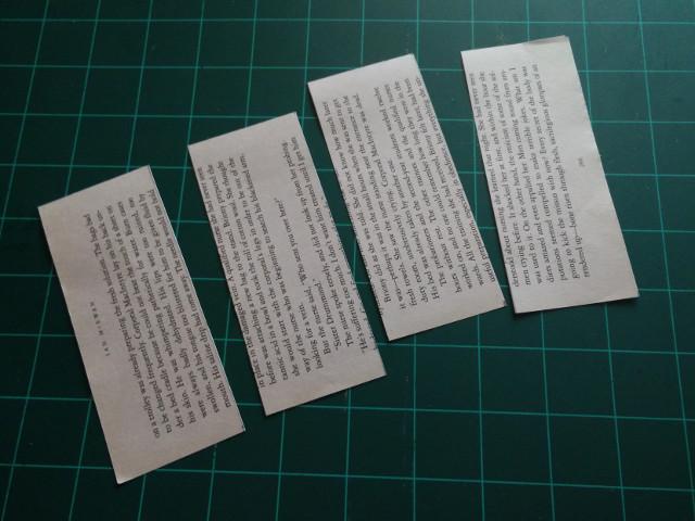Coupez des morceaux de papier de 12.5 x 5cm