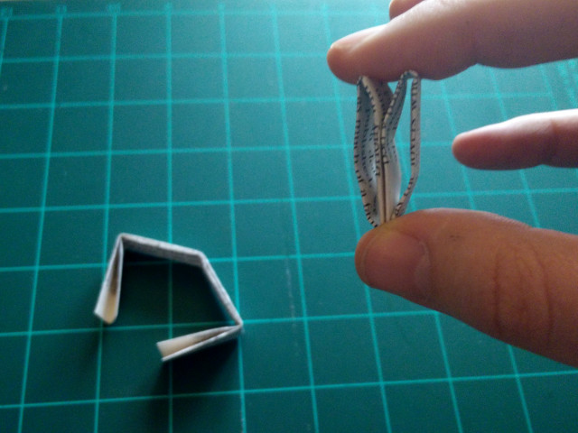 Les deux boucles du papier plié