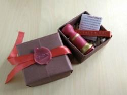Handmade wax seal stamp gift box