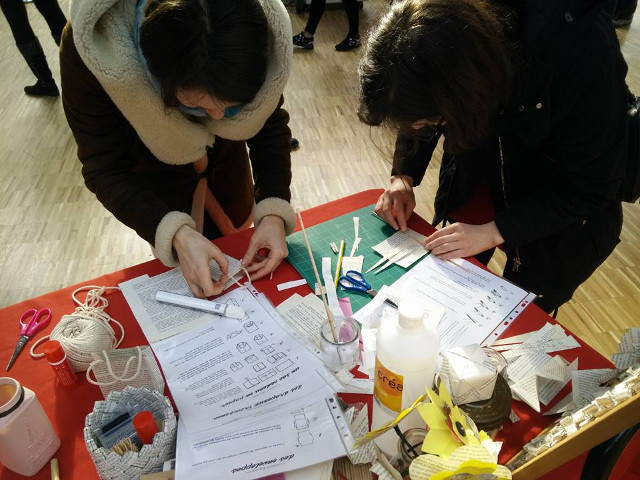 Recycled paper workshop at Carreau du Temple