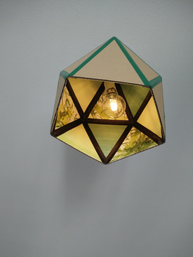 The finished lampshade