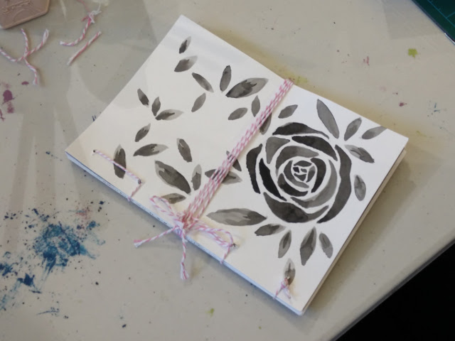 Rose covered notebook