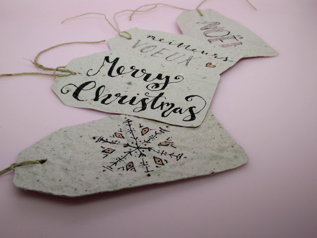Eco wrapping ideas : plantable gift tags