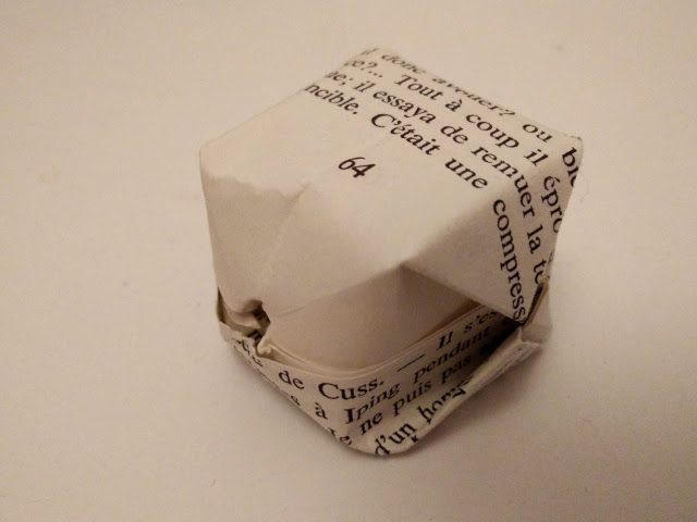 Finished origami cube