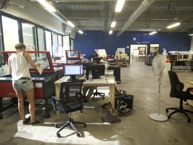Laser cutters at Techshop