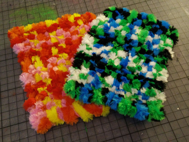 The woven pipe cleaner covers