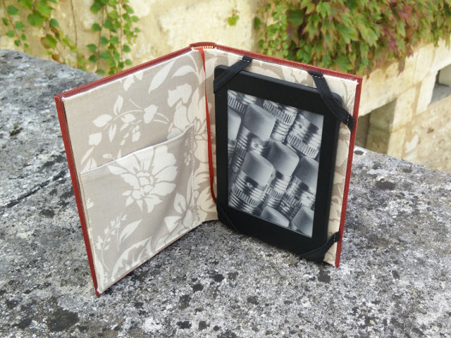 Handmade Kindle case from a hardback book