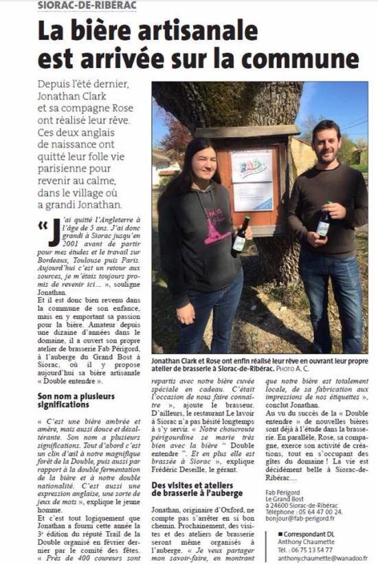 FAB in the Dordogne Libre