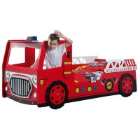 """Lit Enfant """"Camion de Pompier"""" Rouge"""