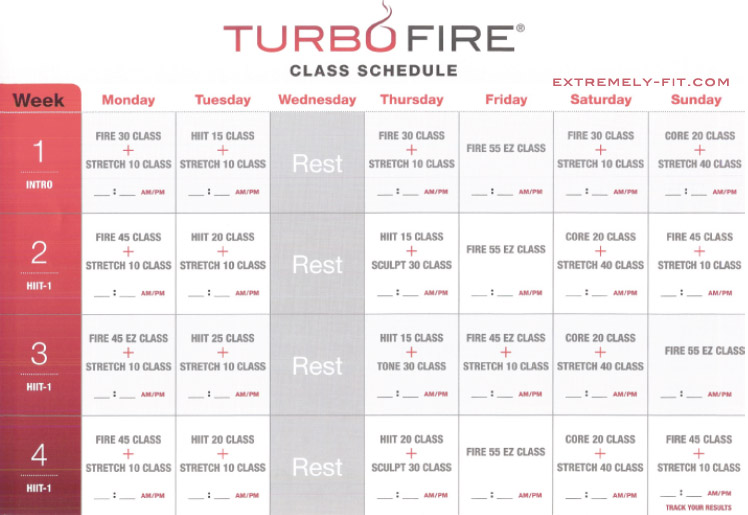 turbo-fire-calendar-class-schedule - Parisienne Farmgirl - Calendar Class