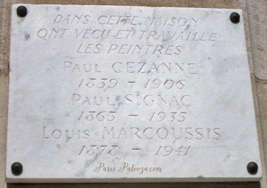 Villa des Arts Cezanne Plaque