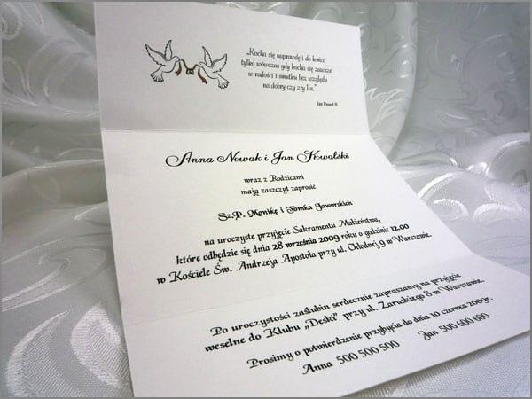 Zaproszenia ślubne z kokardą - PARKA