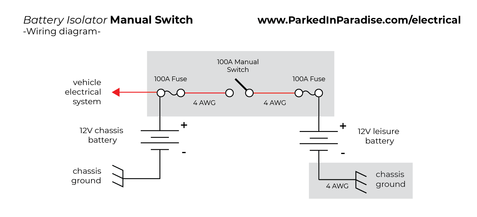 typical battery isolator wiring diagram