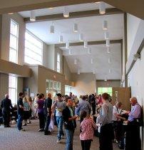 lively church lobby