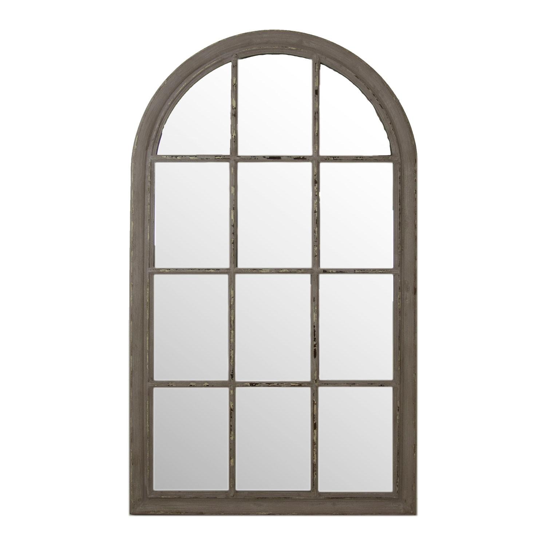 Arch Window Mirror, Grey