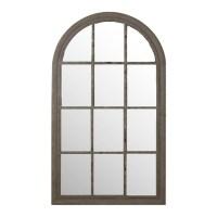 Arch Window Mirror, Grey