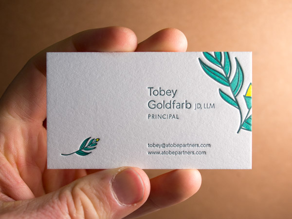 Letterpress Business Card Gallery Parklife Press - letterpress business card