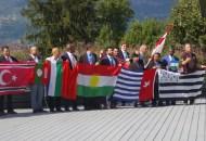 Quelques représentants des Peuples membres de l'UNPO (Photo Alain Raullet)
