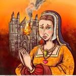 Les vitraux offerts par Anne de Bretagne, dernière duchesse du libre duché breton, ont été détruits dans l'incendie criminel du samedi 18 juillet 2020.