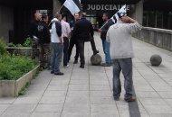 Le 13 mai 2016 devant la cité judiciaire de Rennes