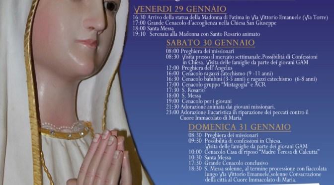 Visita Madonna Pellegrina di Fatima