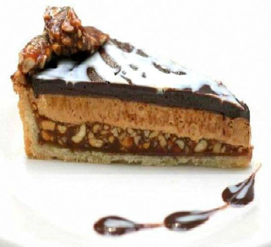 Double Chocolate Salted Peanut Caramel Peanut Butter Pie