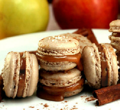 Salted Cinnamon Caramel Apple Macarons and Holiday Cookie Baking! I've got 5 unique cookie recipes, the best brownies ever, and two unique macaron recipes for your holiday cookie baking!