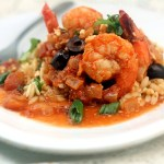 Easy Skinny, Spicy, Saucy Shrimp Fusion <del>and a Le Creuset Giveaway!</del>
