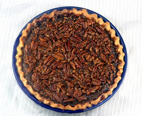 Three Pies in One - Cheesecake Pumpkin Pecan Pie!