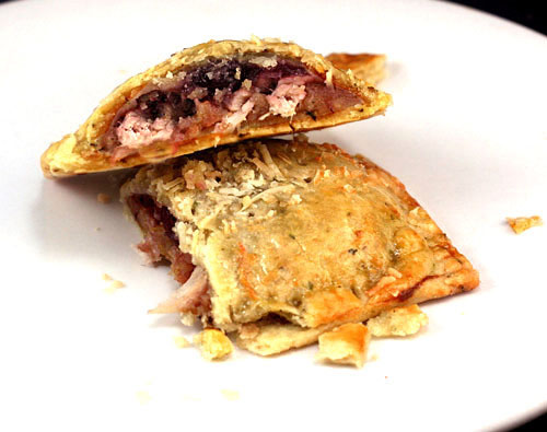 Thanksgiving Leftover Turkey and Fixin's Pop Tarts in a Flaky, Buttery, Herbed Pie Crust! An amazing hand-held way to use up your Thanksgiving leftovers, and they can be frozen too! Kids love these!