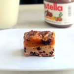 Pumpkin Pie Nutella Chocolate Chip Snickerdoodle Bars for SRC and #cookielove