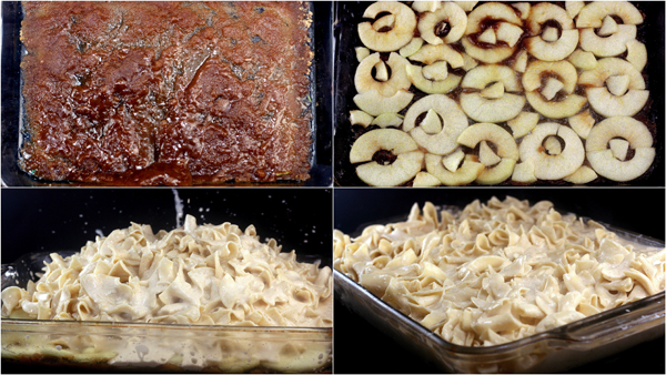 Caramel Apple Upside-Down Noodle Kugel