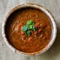 Roasted Chipotle Tomato Salsa