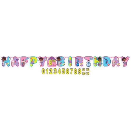 Doc Mcstuffins Birthday Letter Banner - Parties4Kids