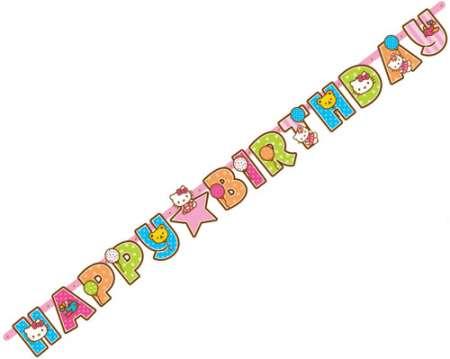 Hello Kitty Add Age Birthday Letter Banner - Parties4Kids