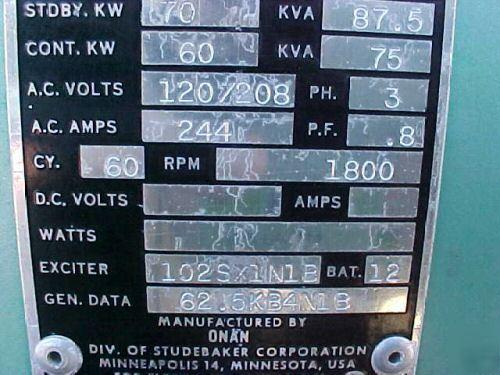 Onan 60 Kw Generator Manual Book