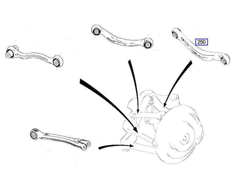W212/S212 E Class 2009-2014 Rear Suspension/Control Arm - Right