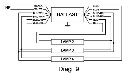 magnetic sign ballast wiring diagram