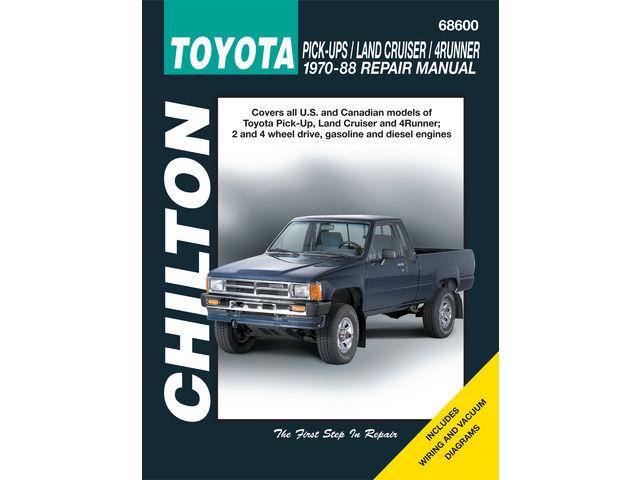 For 1984-1988 Toyota 4Runner Paper Repair Manual Chilton 96768HH
