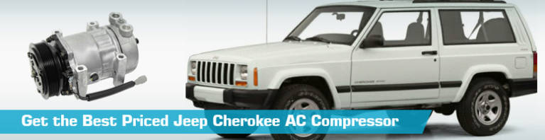 Jeep Cherokee AC Compressor - Air Conditioning - UAC GPD Denso Four