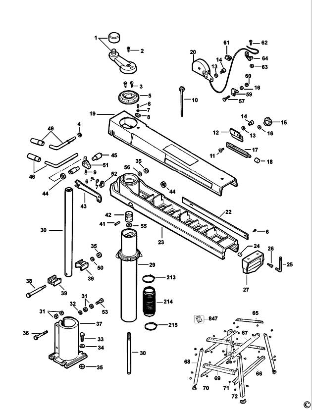 Radial Arm Saw Diagram - Best Place to Find Wiring and Datasheet