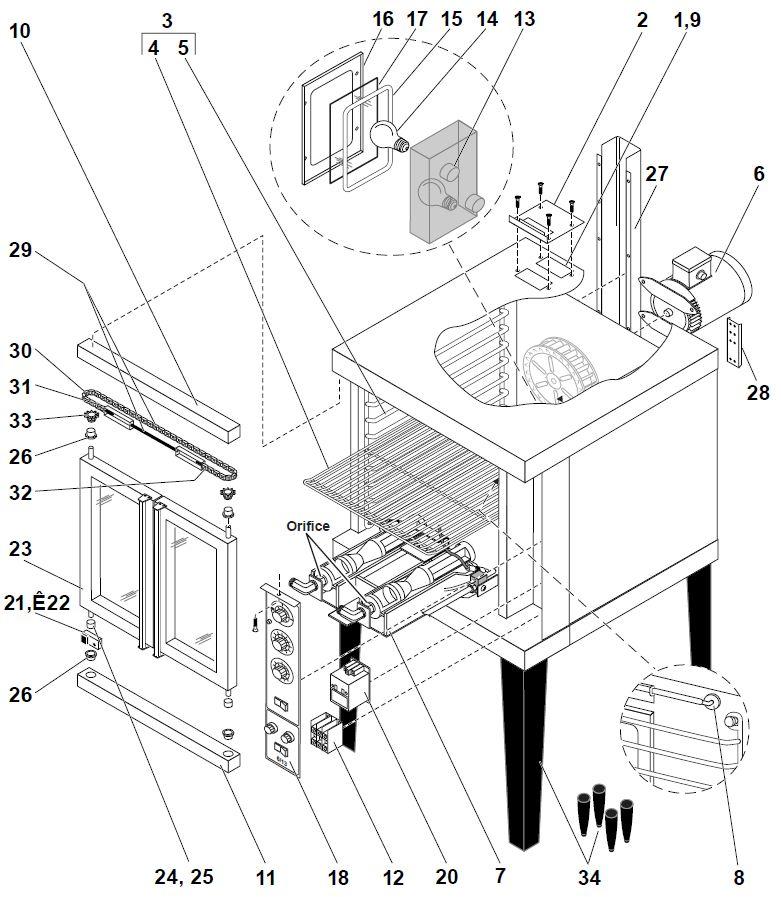 Duke 6/13 OVEN E SERIES Parts Diagram Parts Town