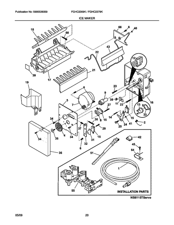 pin ke wiring for thermostat