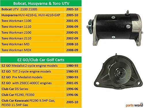 Starter Generator for EZGO, Golf Cart, Club Car, Toro Utility