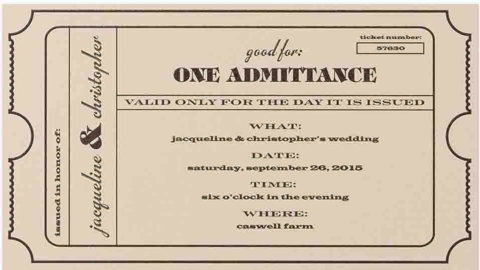 sample prom ticket template