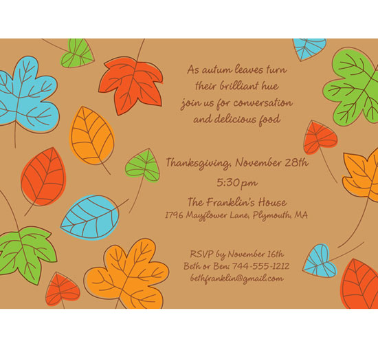 Party411 - Thanksgiving Invitations