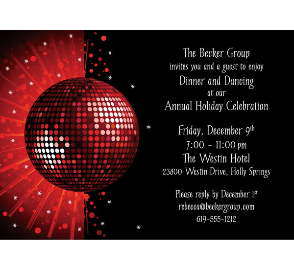 Christmas Party Invitations Invitations to Christmas Party - holiday celebration invitations