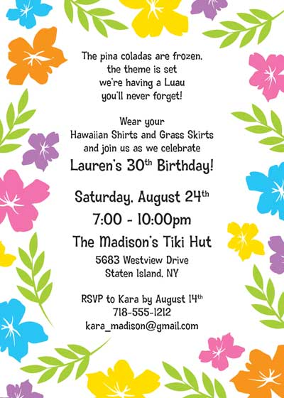 WINNER!!! Baby Shower Luau Invites Keriu0027s shower Pinterest - invitation to a party
